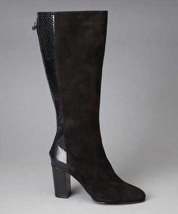Black Suede Nilise Boot