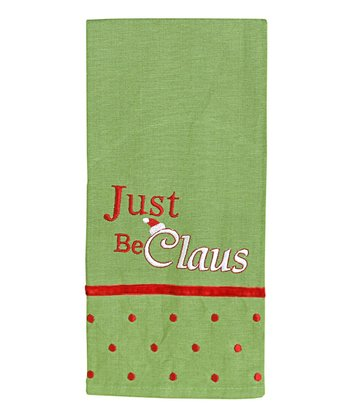 Just Be Claus Hand Towel (Grn/Red)