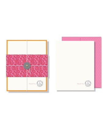 Peace Foil Embossed Note Card Set