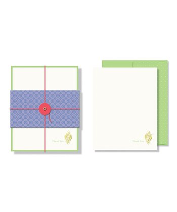 Feather Foil Embossed Note Card Set