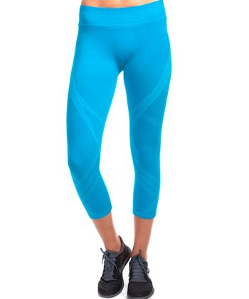 Turqoise Electric Love Leggings