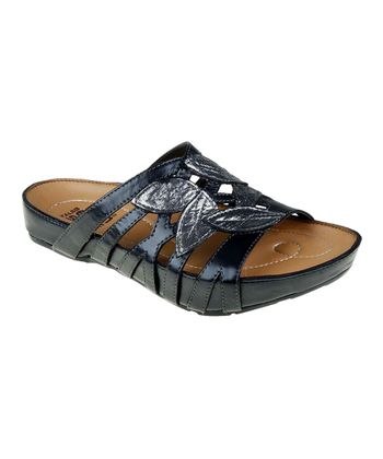 Black Enthuse Slide Sandal