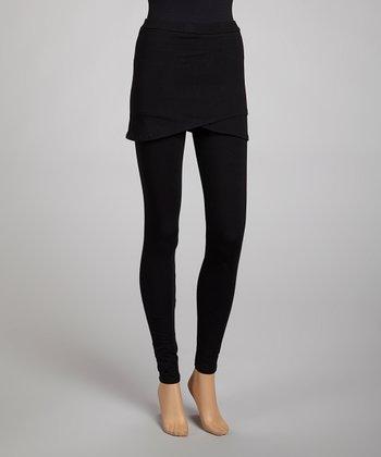 Black Skirted Leggings