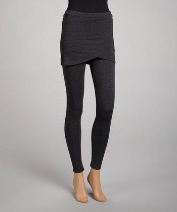 Charcoal Skirted Leggings