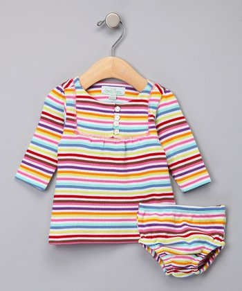 Lollipop Stripe Dress & Diaper Cover