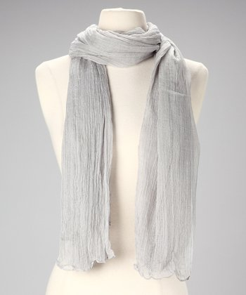 Gray Cotton Scarf