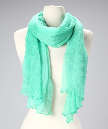 Light Green Cotton Scarf