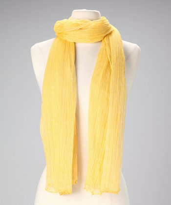 Mustard Cotton Scarf