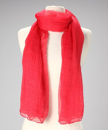 Red Ethereal Scarf