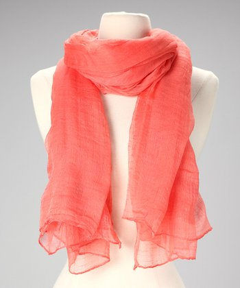 Salmon Cotton Scarf