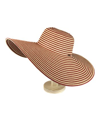 Red Stripe Floppy Sunhat