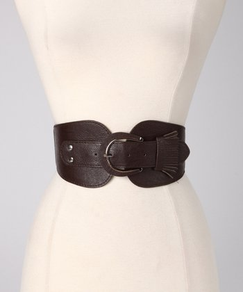 Brown Fringe Stretch Belt