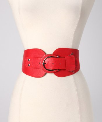 Red Fringe Stretch Belt