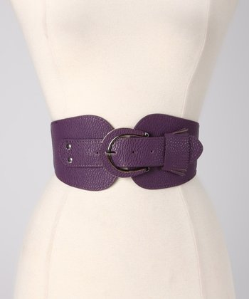 Purple Fringe Stretch Belt