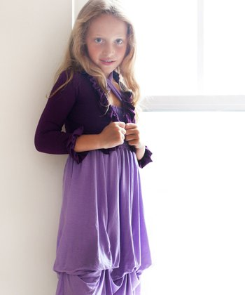 Dark Purple Ruffle Shrug