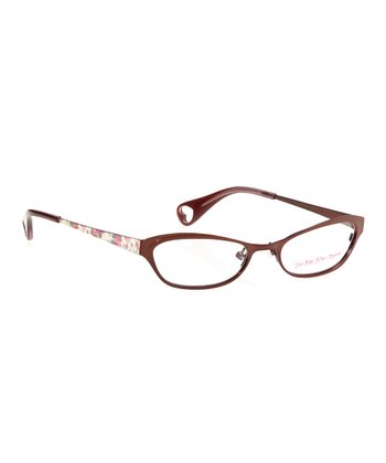 Betsey Johnson Bronze Itsy Bitsy Fancy Eyeglasses