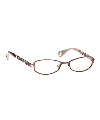 Betsey Johnson Bronze Bangled Beauty Eyeglasses