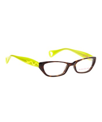 Betsey Johnson Espresso & Lime Itsy Bitsy Sweetie Pie 2 Eyeglasses