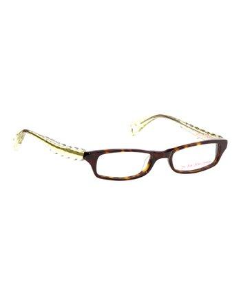 Betsey Johnson Espresso Itsy Bitsy Go Go Gingham Eyeglasses