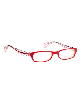 Betsey Johnson Cherry Itsy Bitsy Go Go Gingham Eyeglasses