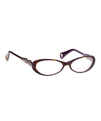 Betsey Johnson Espresso Blushing Buds Budding RomanceEyeglasses