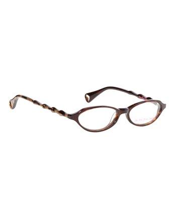 Betsey Johnson Espresso Itsy Bitsy Purr-Fect Eyeglasses