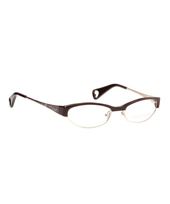 Betsey Johnson Espresso Cutie Pie Eyeglasses