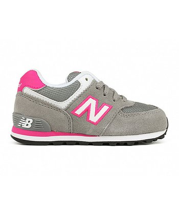 Gray & Pink 574 Running Shoe