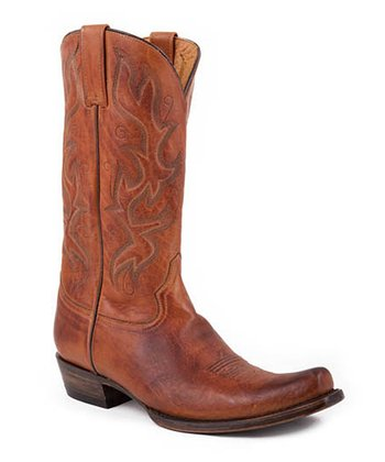 Burnished Honey Snip-Toe Cowboy Boot - Men