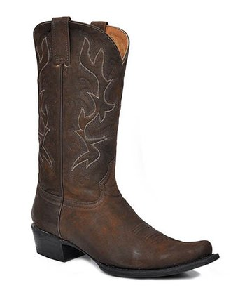 Acetone Brown Snip-Toe Cowboy Boot - Men