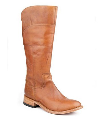 Burnished Saddle Riding Cowboy Boot - Women