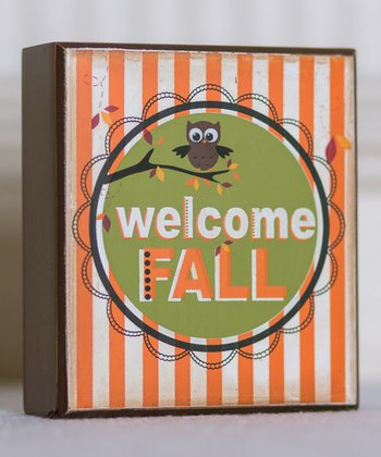 'Welcome Fall' Home Decoration