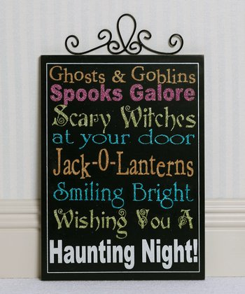 'Ghosts & Goblins' Wall Sign
