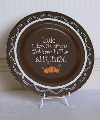 'Little Turkeys' Decorative Plate