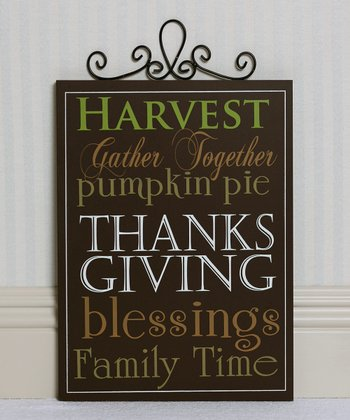 'Harvest' Wall Sign