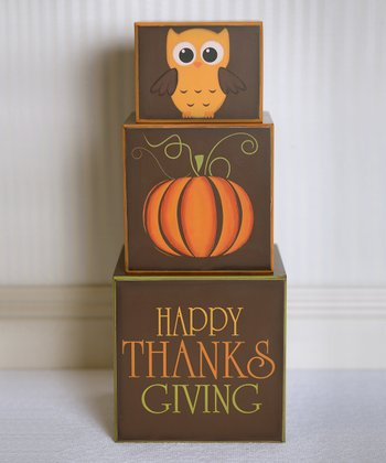 'Happy Thanksgiving' Decorative Nesting Blocks