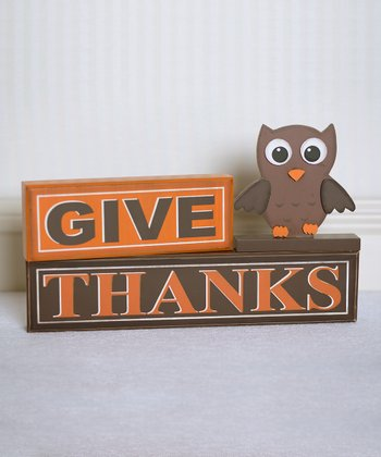 'Give Thanks' Decorative Blocks