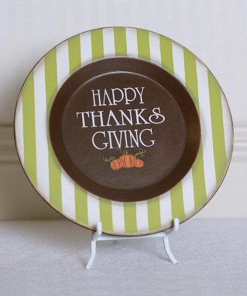 'Happy Thanksgiving' Decorative Plate