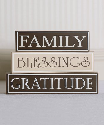 Thankful Decorative Block Set