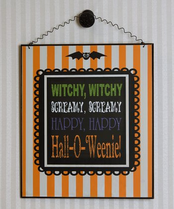 'Witchy, Witchy' Wall Sign