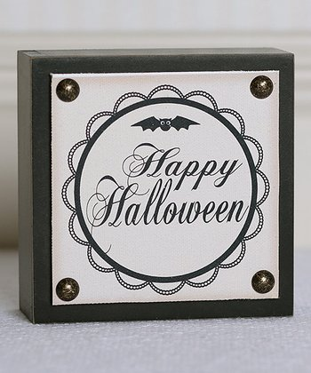 'Happy Halloween' Box Sign