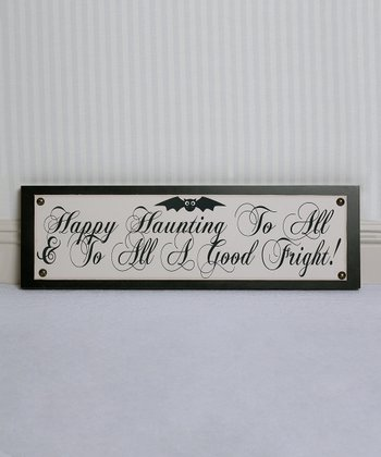 'Happy Haunting' Wall Sign