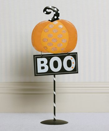 'Boo' Decorative Sign & Stand