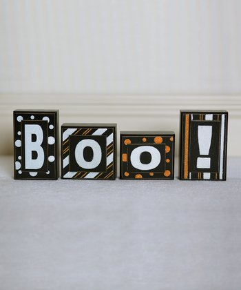 White & Orange Decorative Block Set