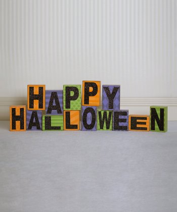 'Happy Halloween' Decorative Block Set
