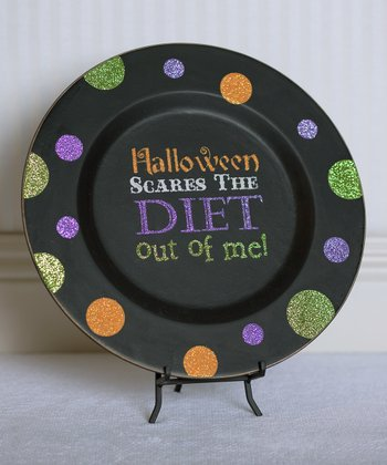 'Halloween Scares the Diet Out of Me!' Decorative Plate