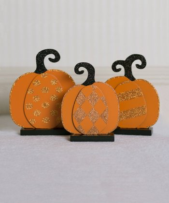 Small Decorative Pumpkin Sign Set
