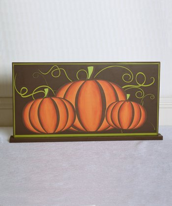 Fresh Pumpkins Decorative Sign