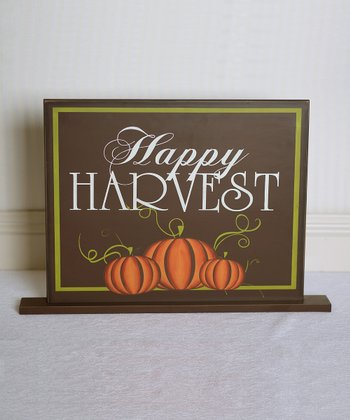 'Happy Harvest' Decorative Sign