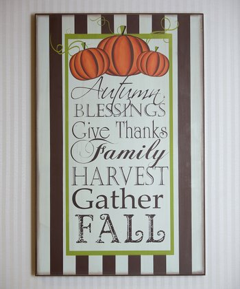 'Autumn Blessings' 29'' Wall Sign